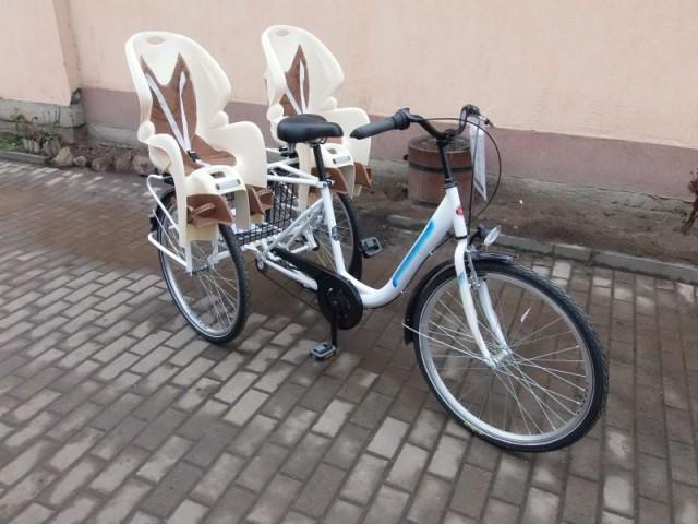 Gyereküléses  iker szállító tricikli